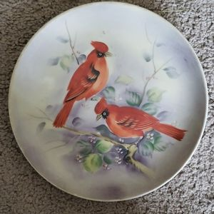 Lefton China SL 5882 Cardinal Plate